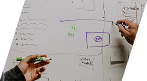 Using a white board to create and implementing inbound marketing strategies