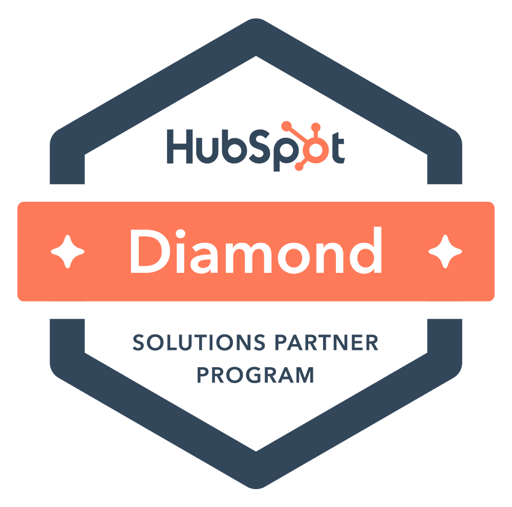 Hubspot diamond level certified agency partner logo