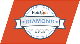 Hubspot diamond level certified agency partner orange logo