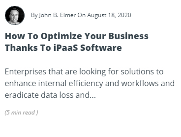 How to Optimize Your Business Thanks to iPaaS Software Article