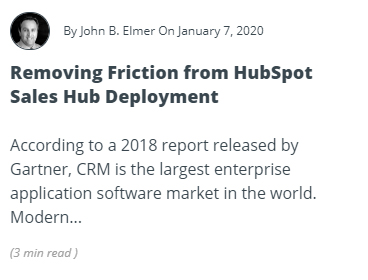 Removing Friction from HubSpot Sales Hub Deployment Article