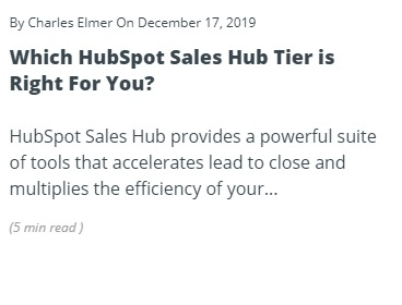 Which HubSpot Sales Hub Tier is Right For You Article